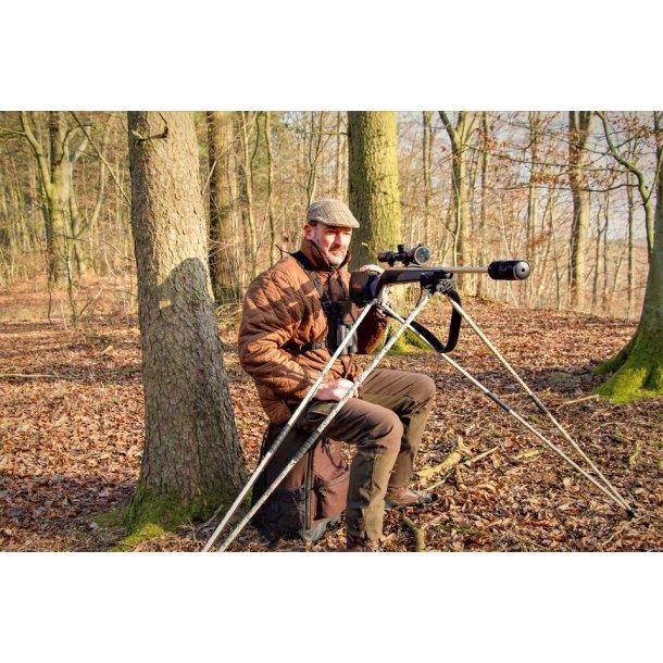 Mjoelner Fenris four leg shooting stick - Prym Woodlands Camo