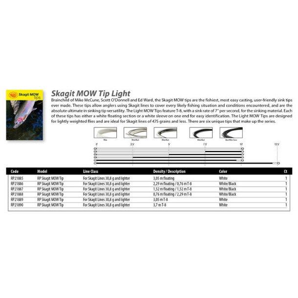 Rio Skagit Mow Tips - Light (T8)