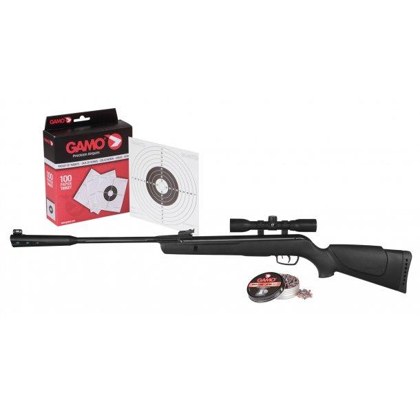 Gamo Quiet Cat Combo 4,5 mm. Luftgevær Sæt